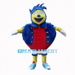 Fat Cartoon Sonic The Hedgehog Mascot Costume
