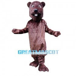 Surprised Beaver Mascot Costume