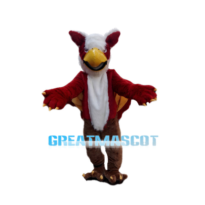 Mythical Eagle Monster Griffin Red Mascot Costume