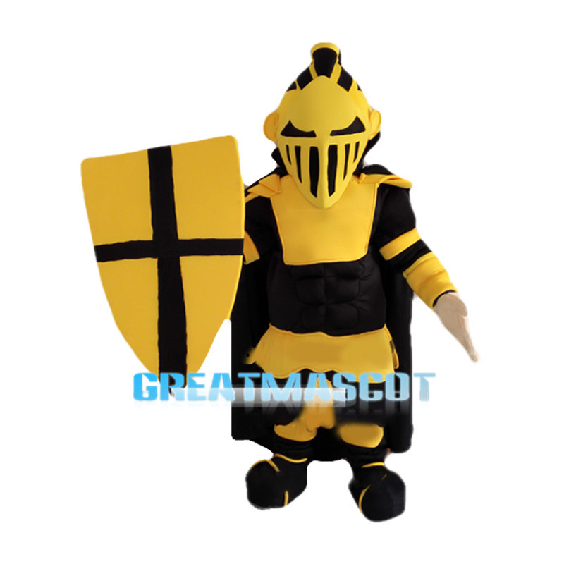 Cool Golden Knight Mascot Costume