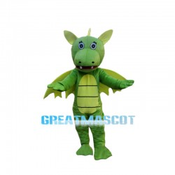 Novel Green Flying Hippo Mascot Costume