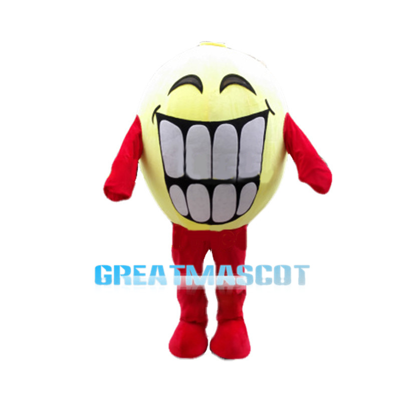 Huge Yellow Smiley Mascot Costume