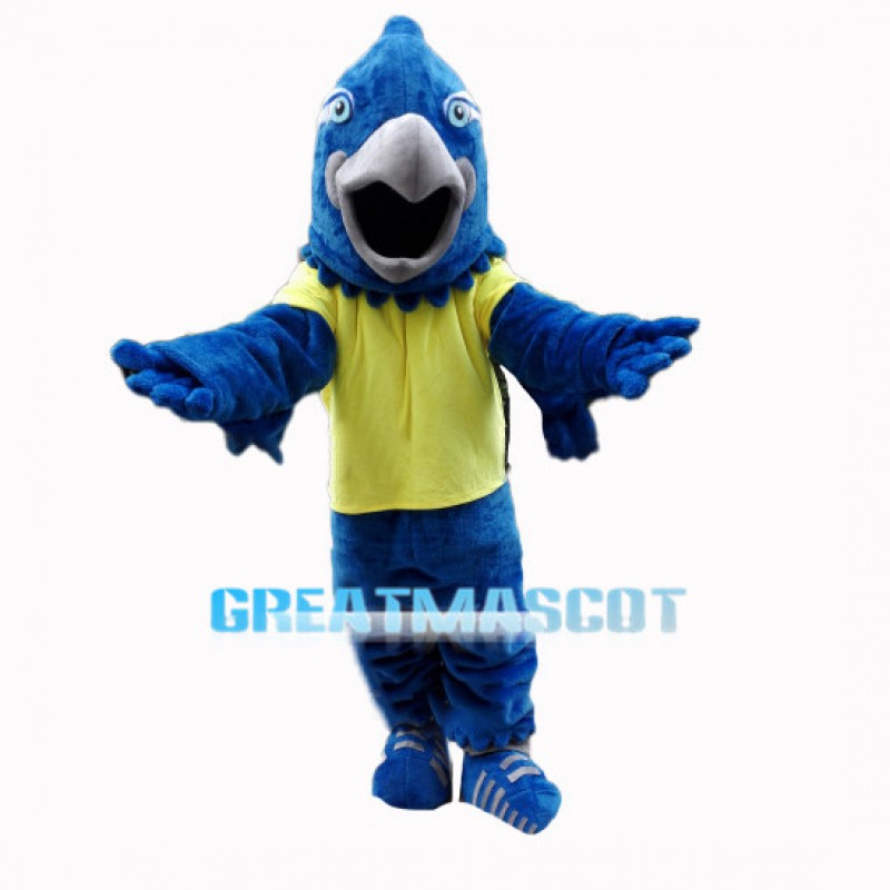 2nd Version Of Blue Falcon Mascot Adult Costume