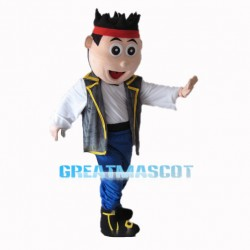 Neverland Jake Pirate Mascot Costume