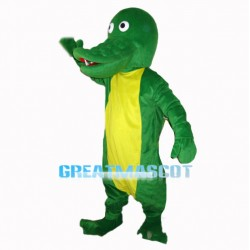 Simple Version Green Crocodile Mascot Costume
