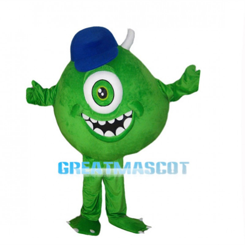 2nd Version Of The Mike Wazowski Green Monster Mascot Costume