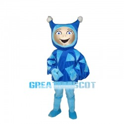 Happy Blue Elf Mascot Costume