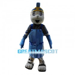 Optimistic Spartan Soldier Mascot Costume