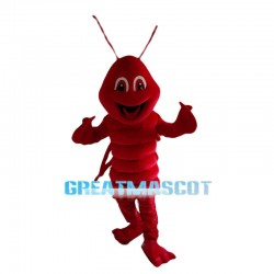 Cheerful Lobster Mascot Costume