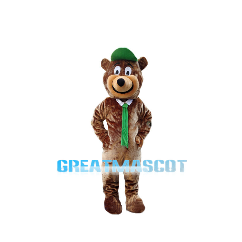 Optimistic Yogi Bear Mascot Costume