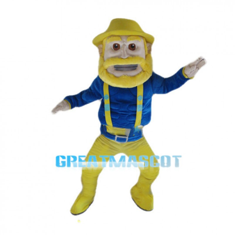 Power Muscly Cowboy Mascot Costume