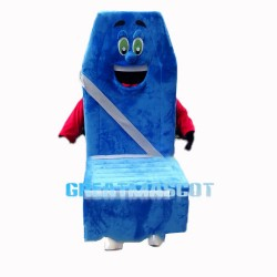 Novel Cartoon Blue Car Seat Mascot Costume
