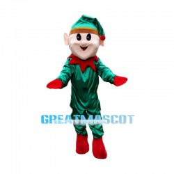 Friendly Christmas Elf Mascot Costume