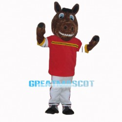 Brown Mustang Horse High School Mascot Costume