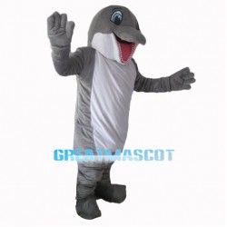Cheerful Dolphin Mascot Costume