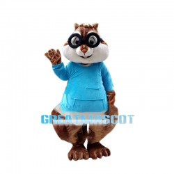 Smart Chipmunk Simon Mascot Adult Costume
