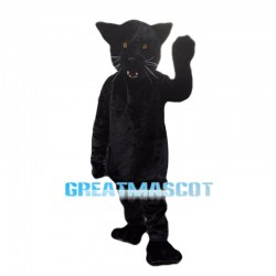 Black Cougar Animal Mascot Costume