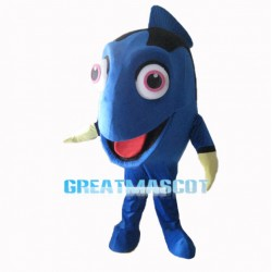 Enthusiastic Dory Regal Blue Tang Mascot Costume