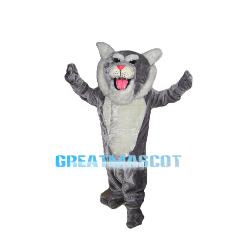 Howling Grey Panther Mascot Costume
