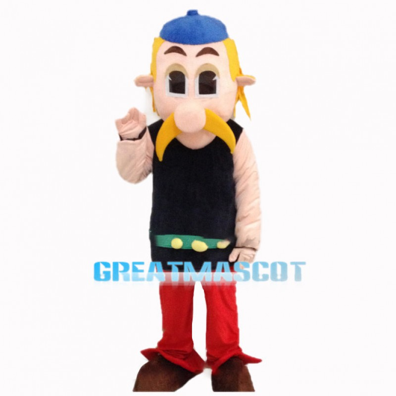 Courageous Gaul Warrior Asterix Mascot Costume