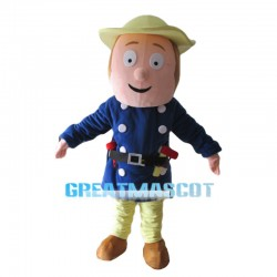 Simple Version Of Fireman Sam Mascot Costume