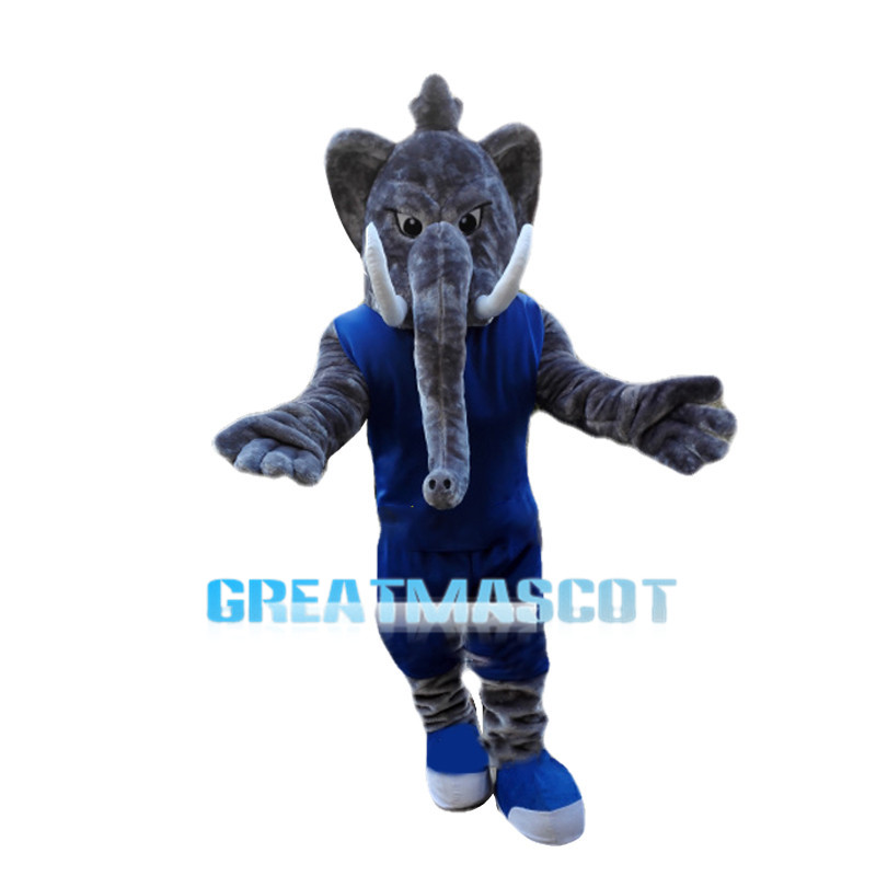 Sports Elephant School Mascot Adult Costume