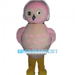 Lightweight Pink Owl Cartoon Mascot Costume