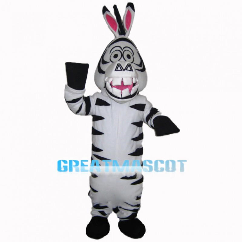 Crazy Marty The Zebra Mascot Costume