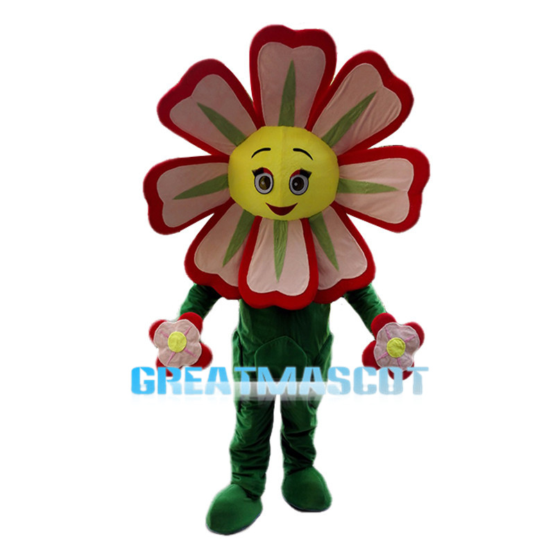 Cartoon Little Red Flower Mascot Costume