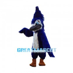 Angry Blue Jay Long Fur Mascot Costume
