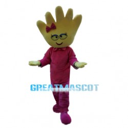 Sweet Cartoon Hand Girl Mascot Costume