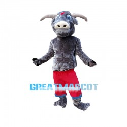 Power Gray Bull Mascot Costume