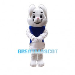 Cute White Rabbit Mascot Costume