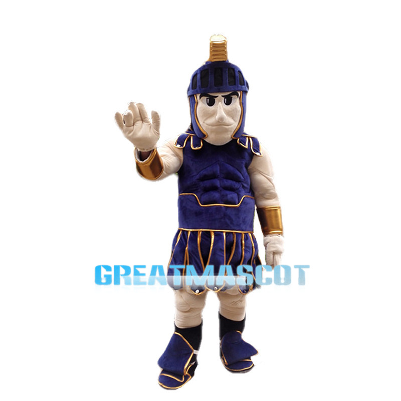 Purple Spartan Warrior Mascot Costume