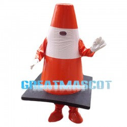 Reflective Traffic Cones Mascot Costume