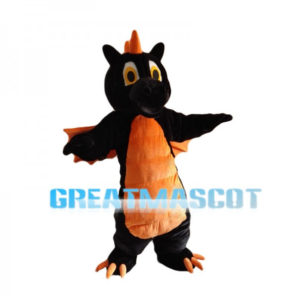 Black & Orange Flying Dragon Animal Mascot Costume