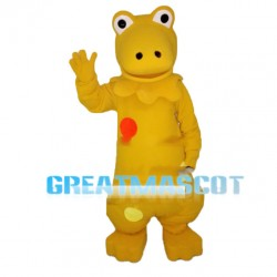Golden Frog Mascot Costume