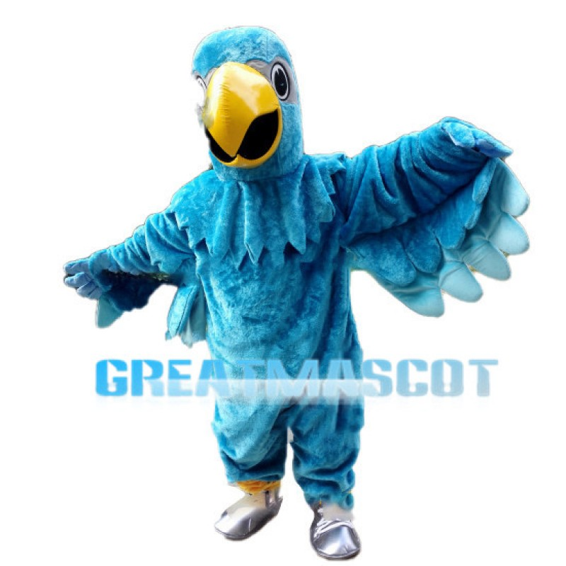 Peacock Blue Parrot Mascot Costume