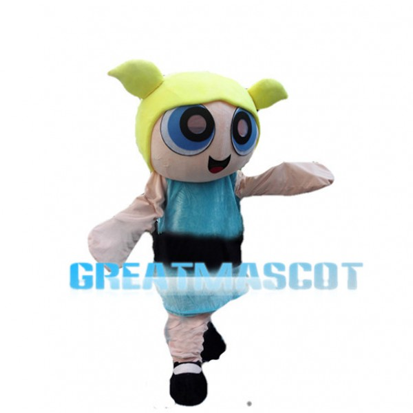 Lively Bubbles The Powerpuff Girls Mascot Costume