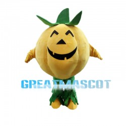 Halloween Yellow Pumpkin Mascot Costume