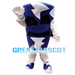 Scary Blue Tornado Cyclone Mascot Costume