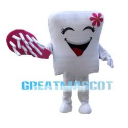 Sweet Cartoon Tooth And Toothbrush Mascot Costume