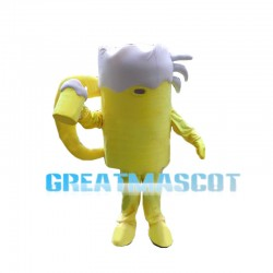 Deluxe Draft Beer Mascot Costume