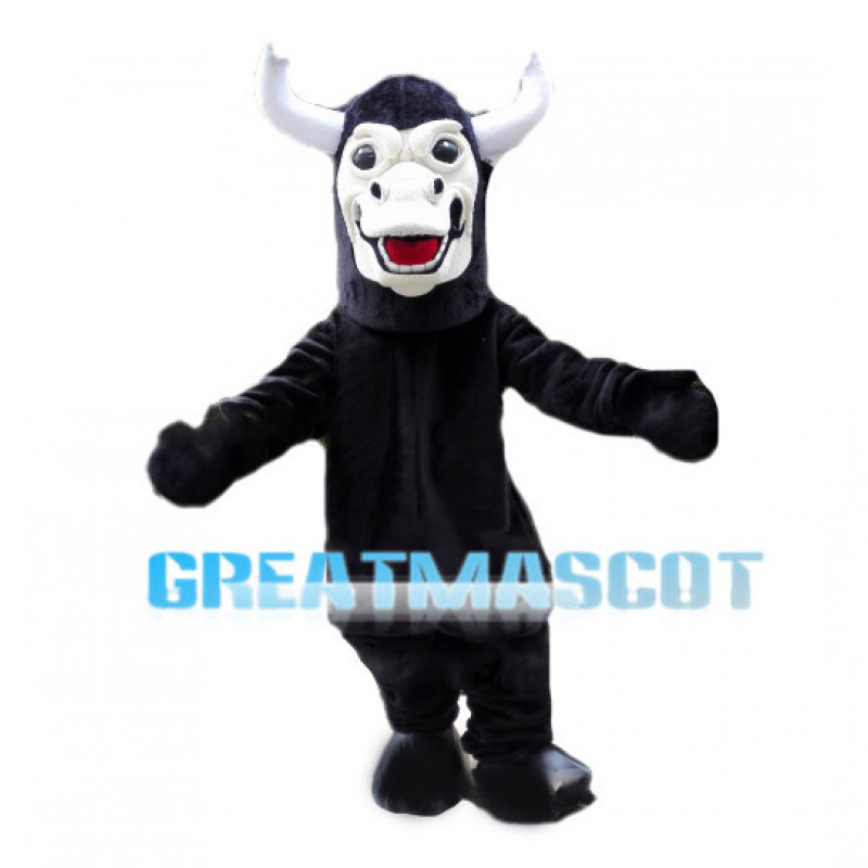 Black Buffalo Animal Mascot Costume