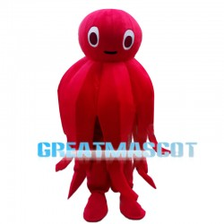 Cute Cartoon Red Octopus Mascot Costume