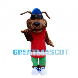 Cool Golden Dog Mascot Costume