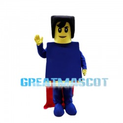 Confident LEGO Superman Mascot Costume