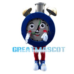 Huge Cartoon Blue Alarm Clock Mascot Costume