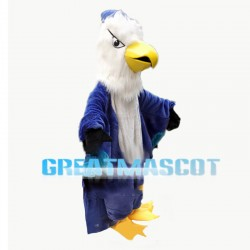 Long Fur Blue Jay Bird Mascot Costume