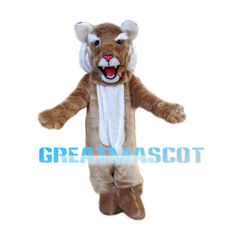Howling Brown Tiger Mascot Costume